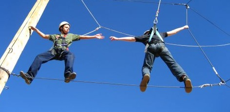 Helping Each Other Is Important. | High Ropes | Day Activities | Weekend In Riga